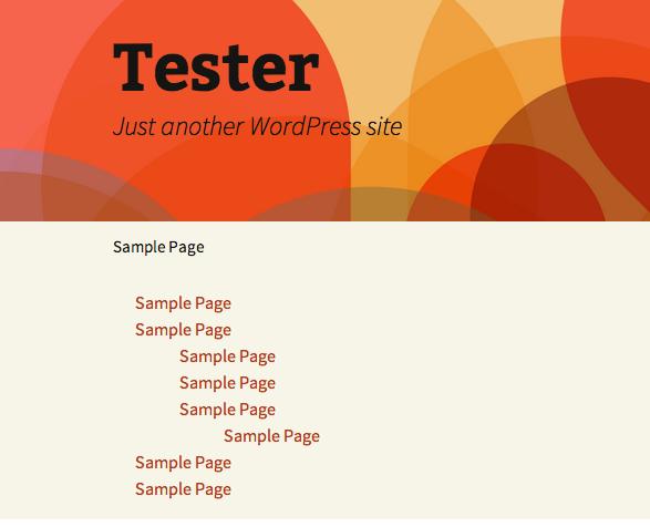 WordPress Menu displayed without any CSS