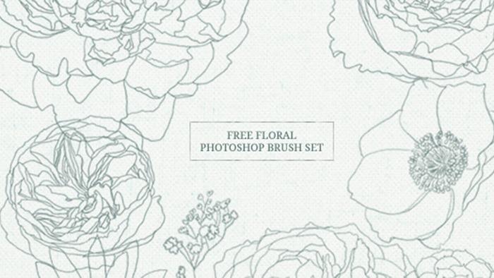 Free Floral Brush Set
