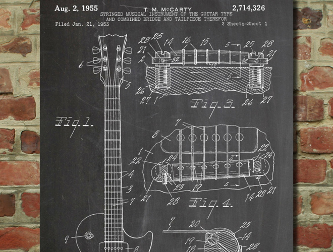 gibson les paul electric guitar patent