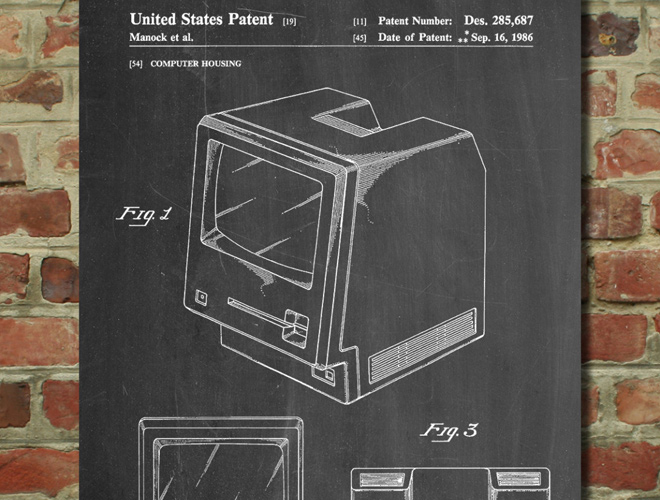 first apple macintosh computer patent