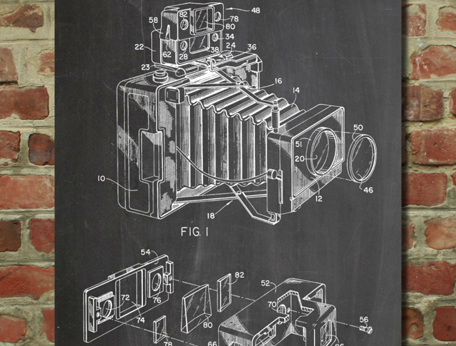photographic camera accessory patent artwork