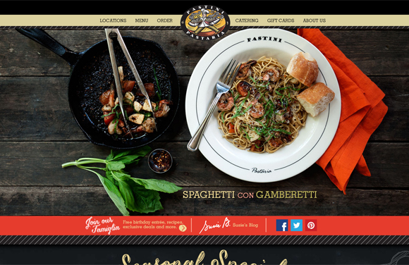 30 Tasty Websites of Cafes and Restaurants