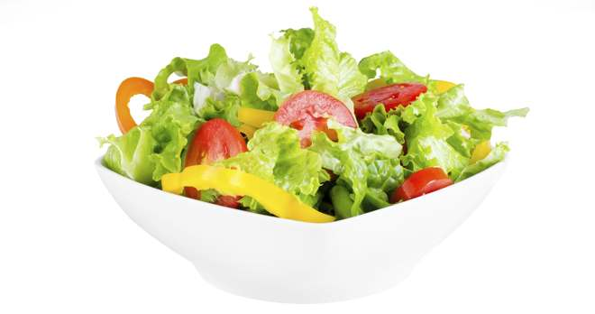 Why are salads a healthy option?