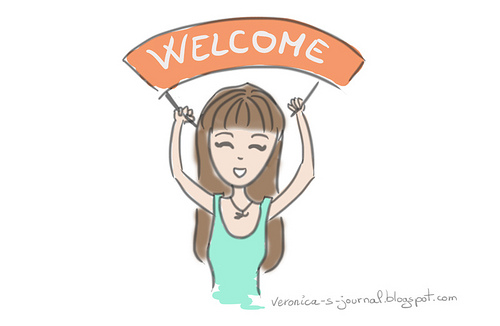 A personal blogger's welcome sign