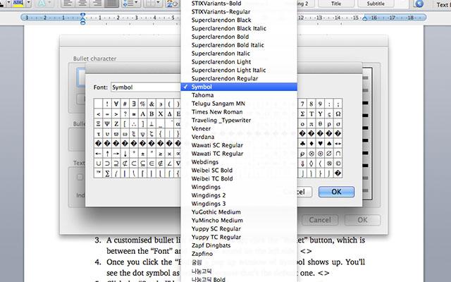 Wordcheckbox-symbolsmenu