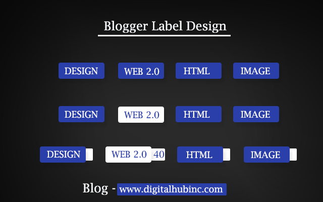How to Design Professional Blogger Label Style