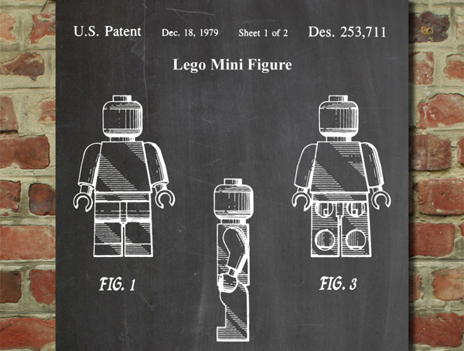 lego parts patents wall art poster
