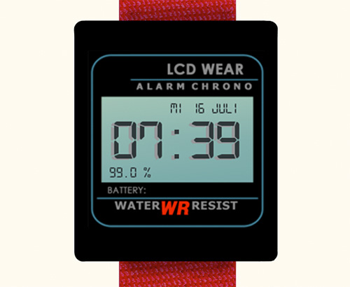 LCD Watch Face