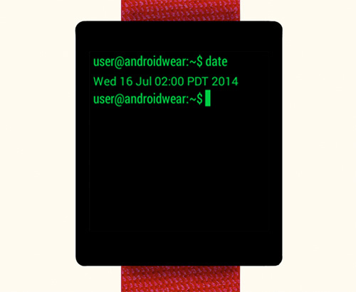 Terminal Watch Face