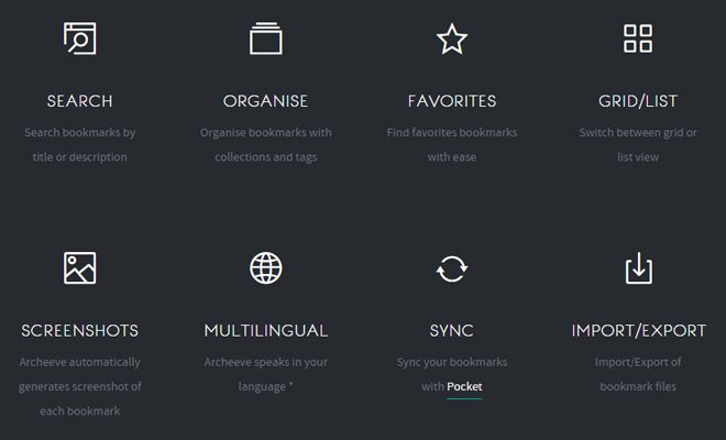 archeeve icons webdesign layout