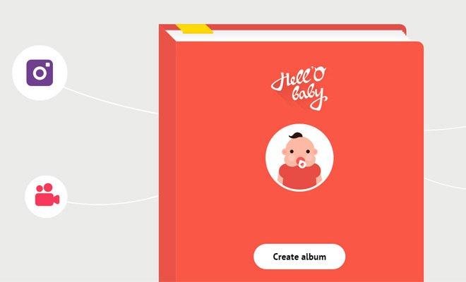 hello baby vector art design