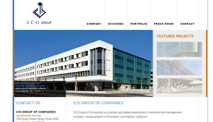 ico group development homepage