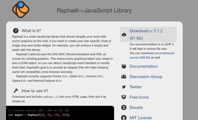 raphael js javascript library