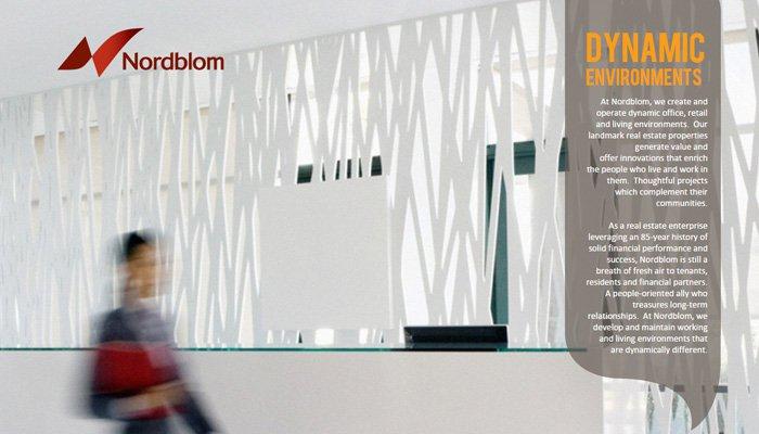 nordblom fullscreen homepage layout