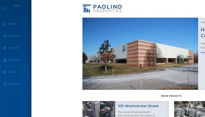 paolino properties real estate firm website