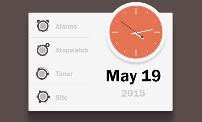 working svg css clock