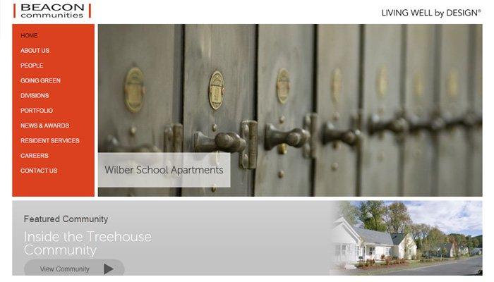 beacon communities llc website design