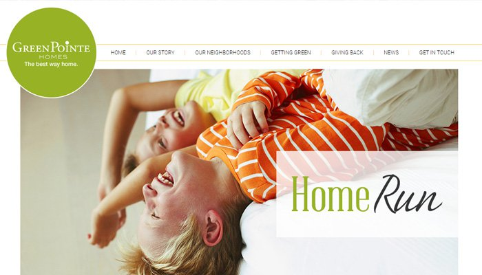 green pointe homes website