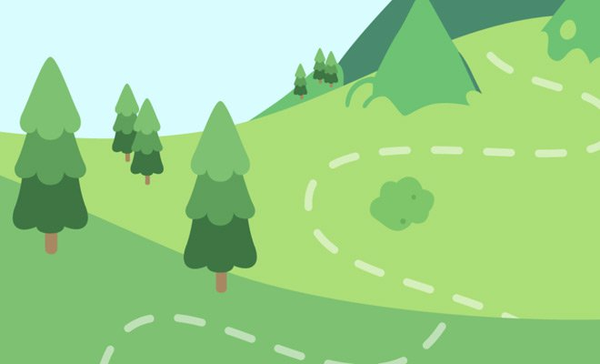 interactive scroll svg landscape