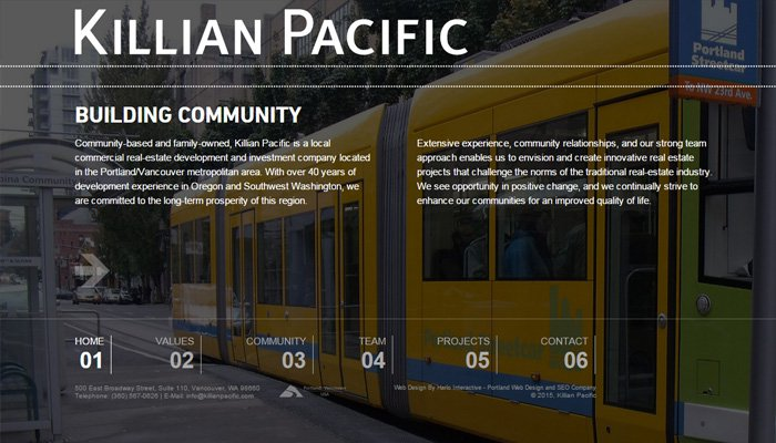 killian pacific homepage fullscreen bg