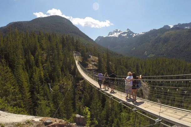 Suspension Bridge, Sea to Sky Summit, Squamish, BC