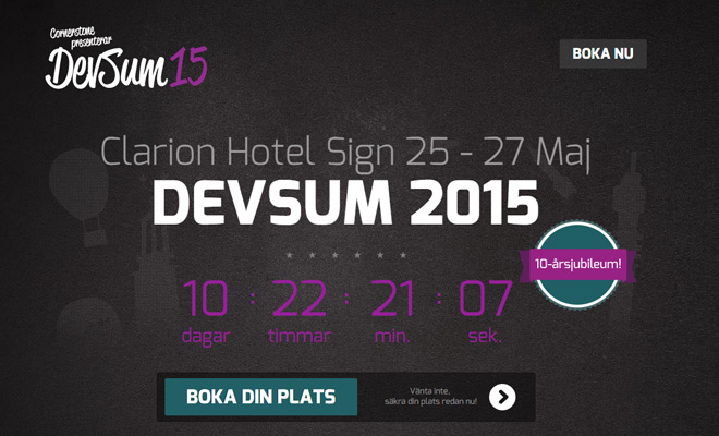 devsum 15 website cta button signup