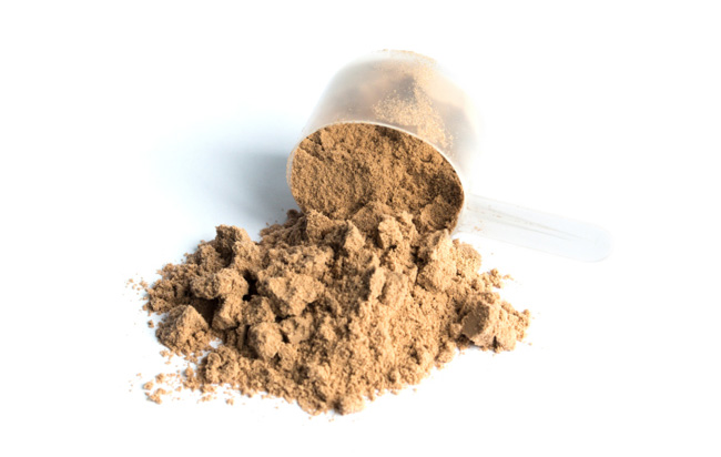 scoop of protein powder
