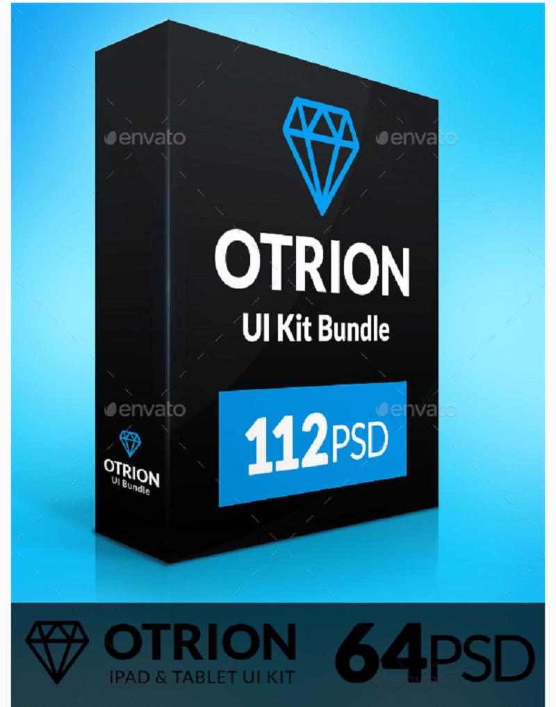 Otrion is based on Flat Design standards