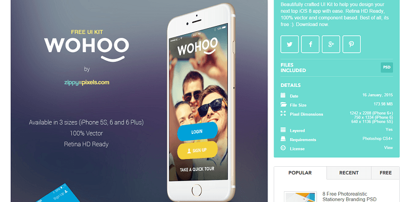 Woohoo is a UI kit for iOS